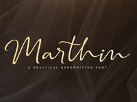 Marthin Handwritten Font