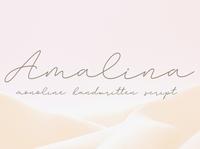 Amalina Monoline Handwritten Font