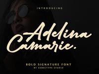 Adelina Camarie Bold Signature Font