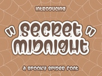 Secret Midnight Spooky Halloween Font