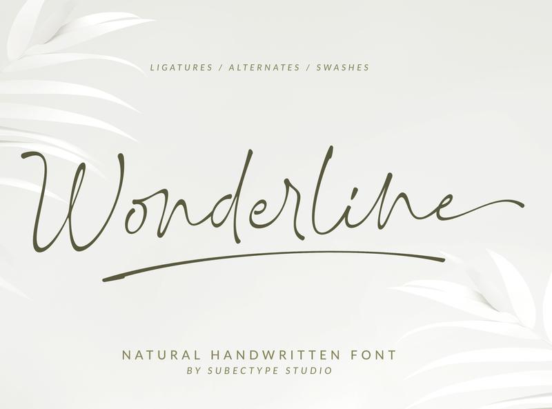 Wonderline Handwritten Font lettering logo design calligraphy handwritten handwritting handlettering signaturefont script signature