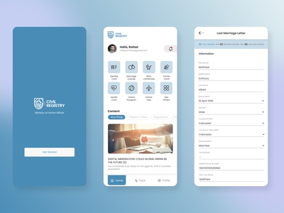 Civil Registry - Ministry of Home Affairs - Government government sketch figma daily ui mobile ui mobile app design mobile app mobile ux ui design app
