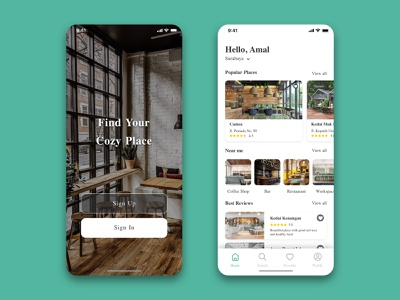 Good Places App - UI user interface design user experience user interface restaurant app restaurant food app store app store ui ux mobile ui mobile app design mobile app mobile design app