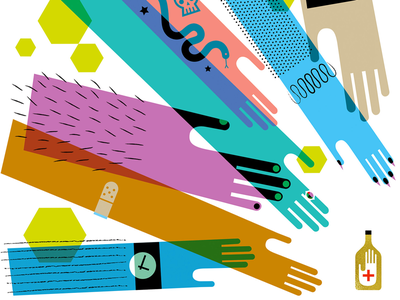 Hand Sanitizer Frenzy people abstract illustration graphic design hands hand sanitizer coronavirus