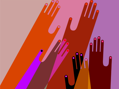 Hands On for Juneteenth minimal abstract graphic design colorful hands fashion illustration vector people illustration