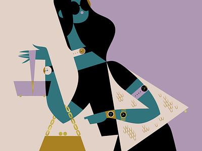 Vogue Japan: bags + watches glamour people conceptual women vogue fashion illustration illustration