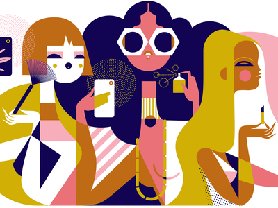 Beauty Influencers flat vector branding beauty logo fashion illustration design illustration