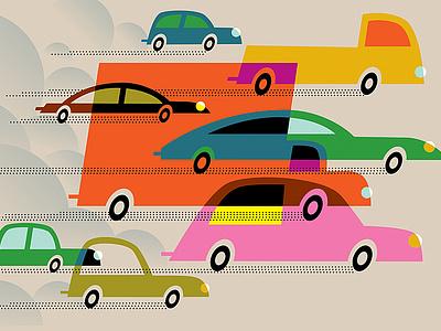 Transportation vector transportation carbon tax carbon emissions conceptual illustration art illustration automobiles cars
