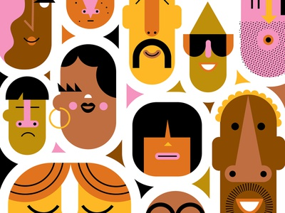 Make Someone Smile! party event colorful design colorful art humorous illustration fun abstract design people illustration vector design international diversity character animation characterdesign people illustration