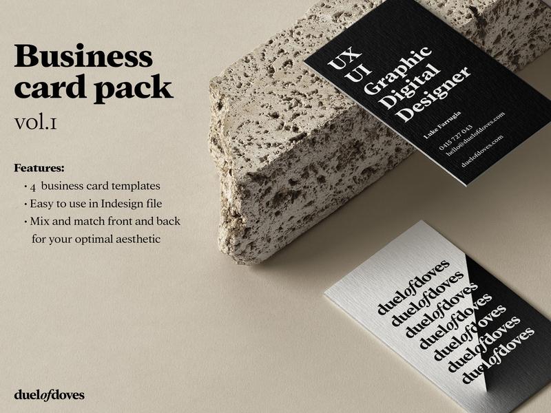 Business Card Mock Up duelofdoves designer business card minimal ux typography branding vector logo design