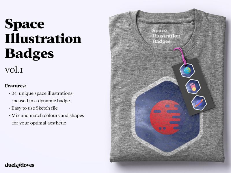 24 Space illustration badges texture galaxy planets space mockup psd mockup tshirt admin business card ux vector typography minimal logo duelofdoves designer design branding