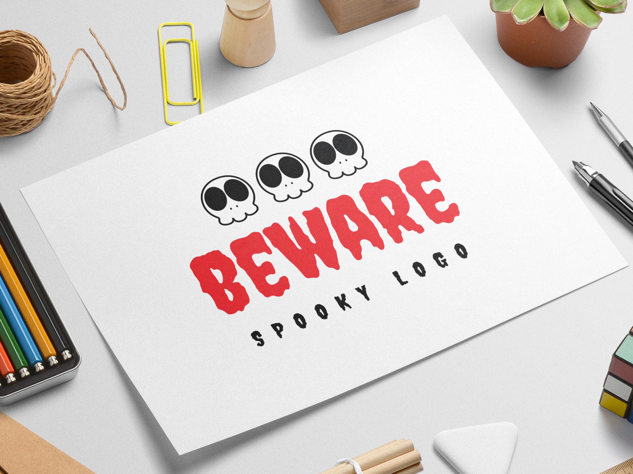 Beware logo template