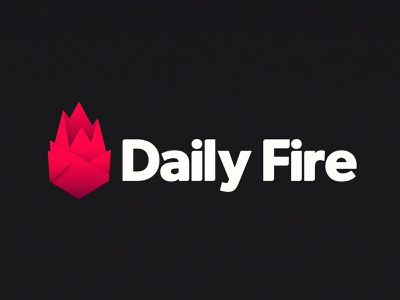 Daily Fire Logo daily fire icon ux typography vector minimal logo duelofdoves designer design branding