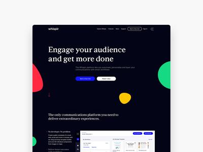 Whispir website homepage