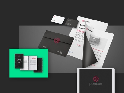 Pericon App - Identity layout ios stationary mockup printing press printing pericon app side hustle ux typography vector minimal logo duelofdoves designer design branding
