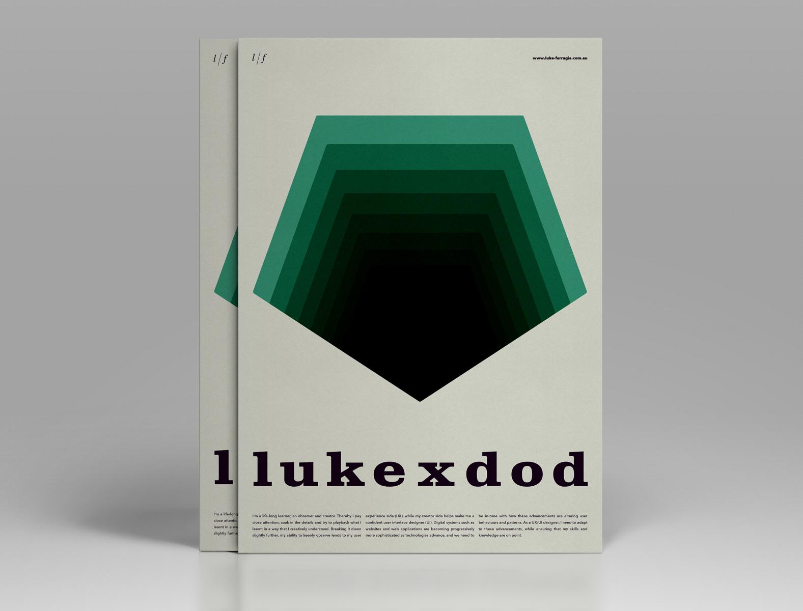 Typographic resume posters