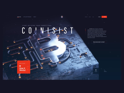 Hello Dribbble webdesigner web design theme agency trend bitcoin cryptocurrency debut user interface animation vector design illustration landing page ui after effect cinema 4d c4d 3d animation 2d animation