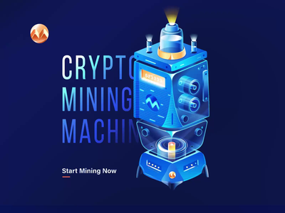 Mining Machine 3d art machine mining bitcoin cryptocurrency crypto c4d typography animation ui nortix design illustration 3d animation 2d animation 3d 2d