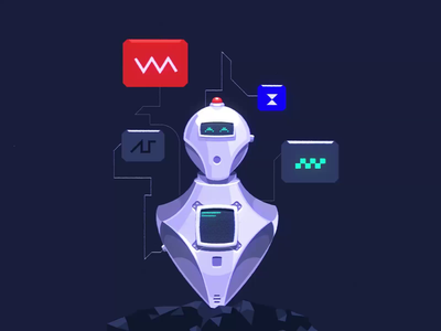 Smart Robo Friend vector assist assistant robot nortix c4d after effect design illustration animation 2d 3d animation 2d animation 3d