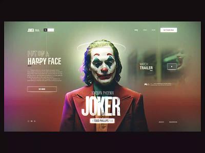 Joker UI Concept concept vintage trending trend video c4d 3d animation 3d nortix user interface landing page motion design motion graphic motion joker movie joker 2d animation 2d animation