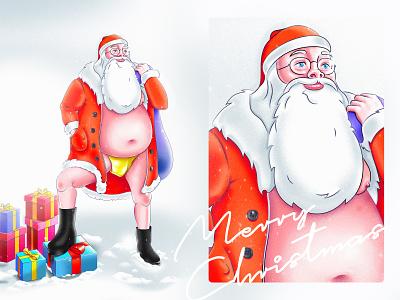 Magic Santa christmas card gift characterdesign character drawing draw new year happy new year santaclaus santa merrychristmas christmas vector design nortix illustration 2d