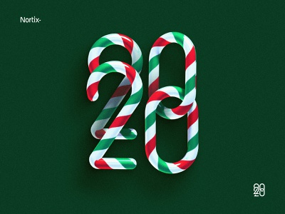 Happy New Year cinema 4d cinema4d 3d c4d vector 2d nortix illustration design christmas happy new year new years 2020 new year