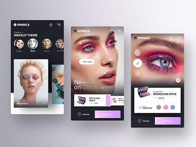Mobile App Concept— Beauty and Style style beauty uxdesign ux app ui application app design app ui nortix design makeup