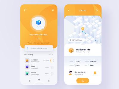 Mobile App Concept— Parcel tracking delivery app uxdesign ux uidesign application appdesign app vector ui 2d nortix illustration design package parcel shipping