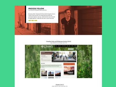 Portfolio portfolio orange teal futura meta serif