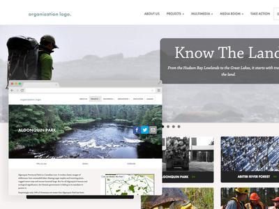 non profit non-profit clean white ngo engo website typekit environmental