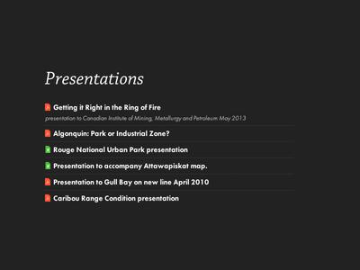 Presentations list typography icons chaparral futura typekit