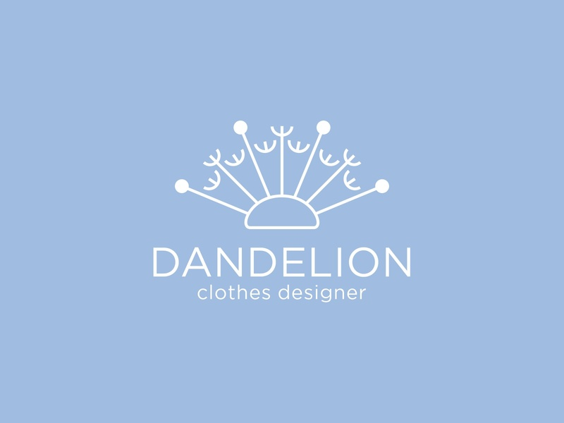 Dandelion fashion needle pillow pillow needle designer clothes vector line sale logo sale design color dribbble icon logotype logo
