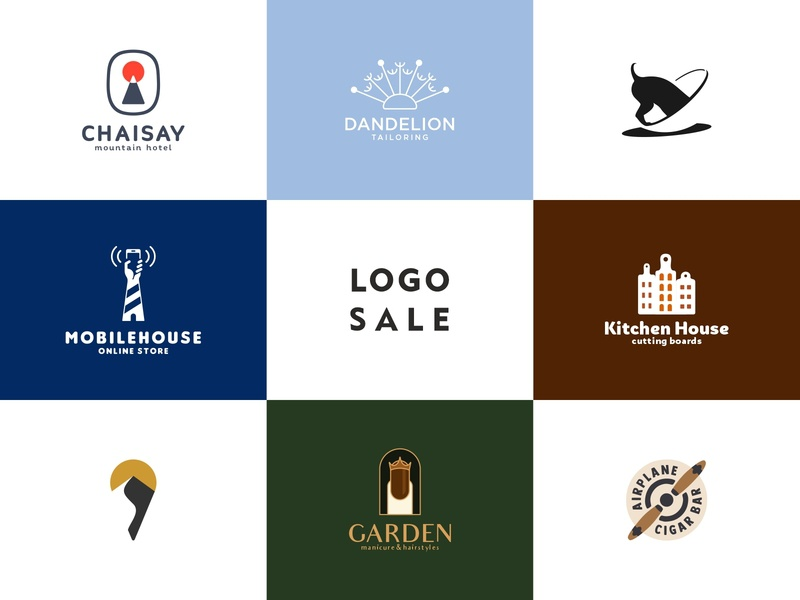 Logo Sale cigar map pin kitchen house lighthouse mobile hotdog dandelion mountain hotel illustration sale logo sale design color dribbble icon logotype logo