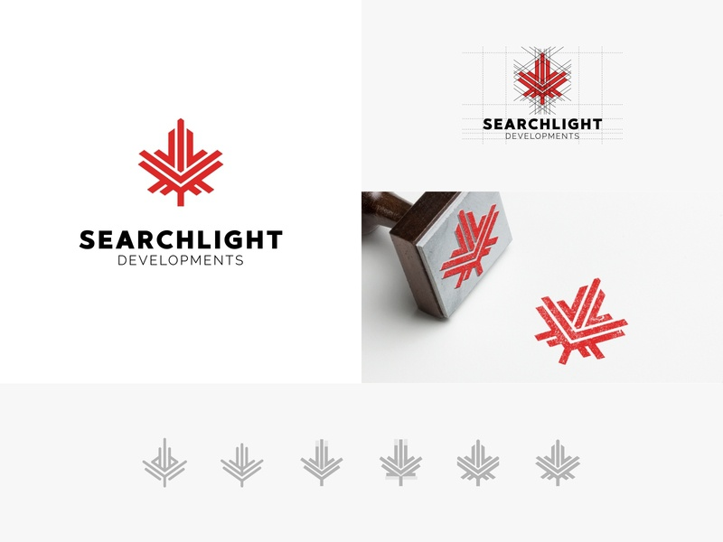 Estate agency minimalism leaf maple leaf maple red scetch agency canada day canada vector branding line illustration design color dribbble icon logotype logo
