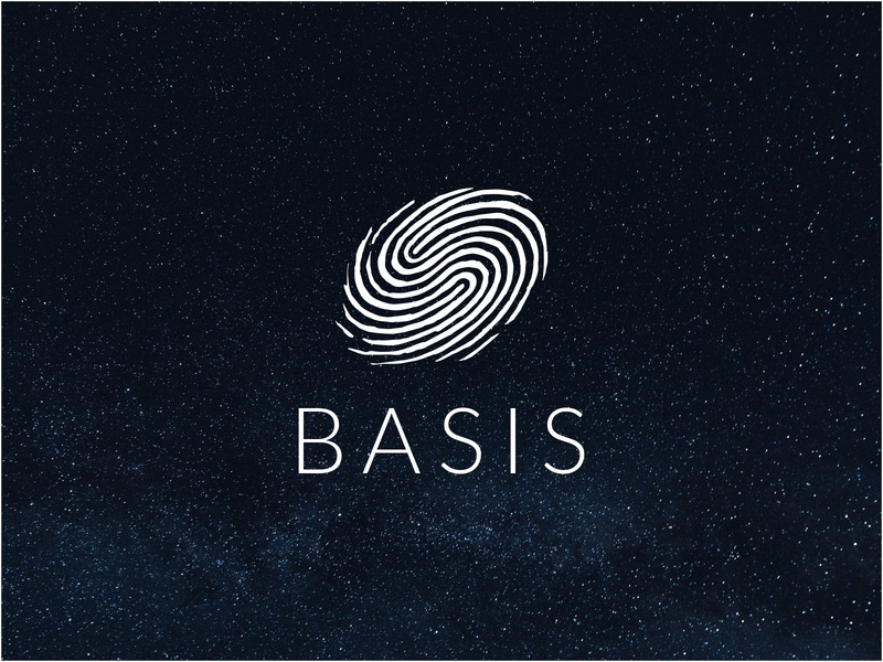 B A S I S logo line finger fingerprint space galaxy logo studio studio health basis branding line design dribbble icon logotype logo