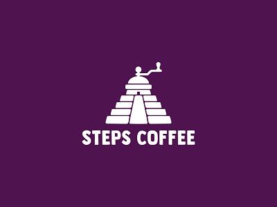 Steps coffee ☕ house steps truck coffee branding color design dribbble icon logotype logo