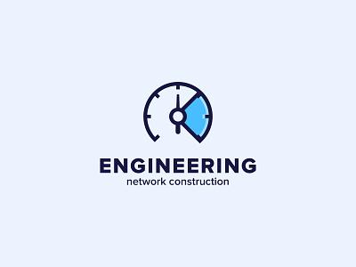 Engineering space helmet engineering logo engineering engineer blue astronaut line illustration color design dribbble icon logotype logo