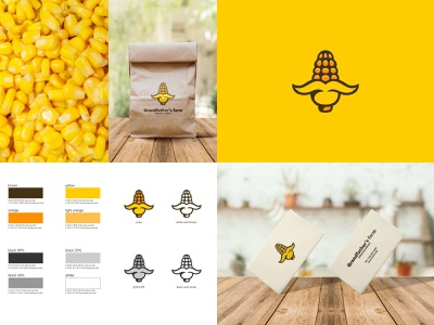 Corn 🌽 nature mustache grandfather farm corn cereal food sale logo sale illustration color design dribbble icon logotype logo