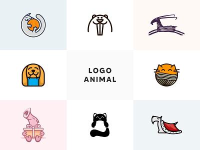 Logo Animal line animals pig goat dog cat animal vector branding sale logo sale illustration color design dribbble icon logotype logo