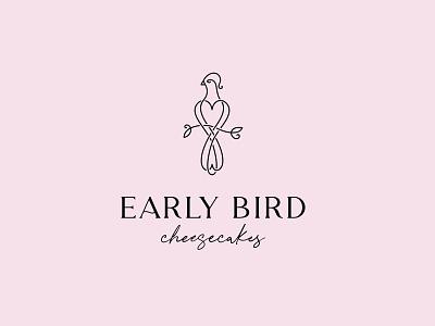 Early bird turaco branch bakery cheesecake logo line bird food illustration color design dribbble icon logotype logo