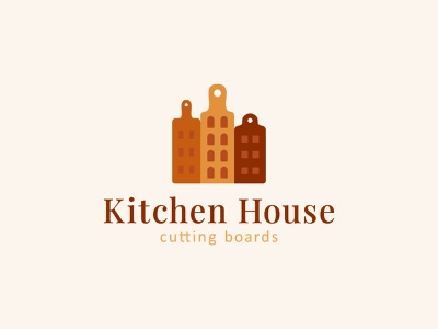 Kitchen House cutting board kitchen house city board food sale logo sale illustration color design dribbble icon logotype logo