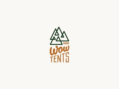 Wow tents green logo line lines triangle mountain logo mountain letter tents tent line illustration color design dribbble icon logotype logo