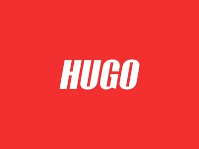 HUGO hugo company logistics typography red lettering letter fonts font vector color design dribbble icon logotype logo