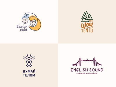 Logo line body lamp sound eanglish tents tent mountains mountain people face branding line illustration color design dribbble icon logotype logo