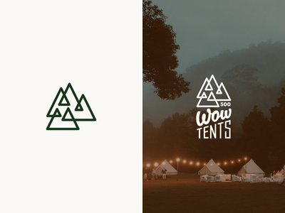 Camping in the mountains typogaphy letter font tent tents mountains logo line camping camp typography vector line illustration color design dribbble icon logotype logo