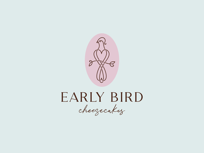 Early Bird family bird logo birds bird early branch cheesecake logo line early bird branding line illustration color design dribbble icon logotype logo