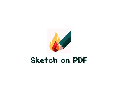 Icon symbol pdf pencil fire android design android app android mobile icon mobile app sketchapp sketch vector branding illustration color design dribbble icon logotype logo