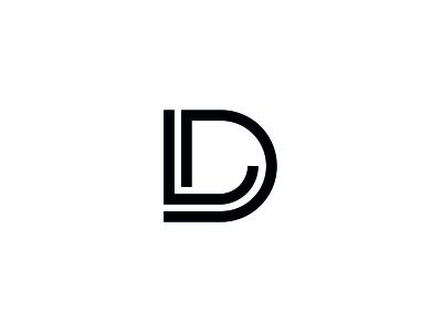 D + L monogram letter logo