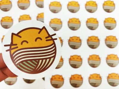Stickers with a cat 🐱 logo orange cat stickers