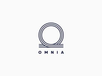 Omnia plastic logo line icon circle